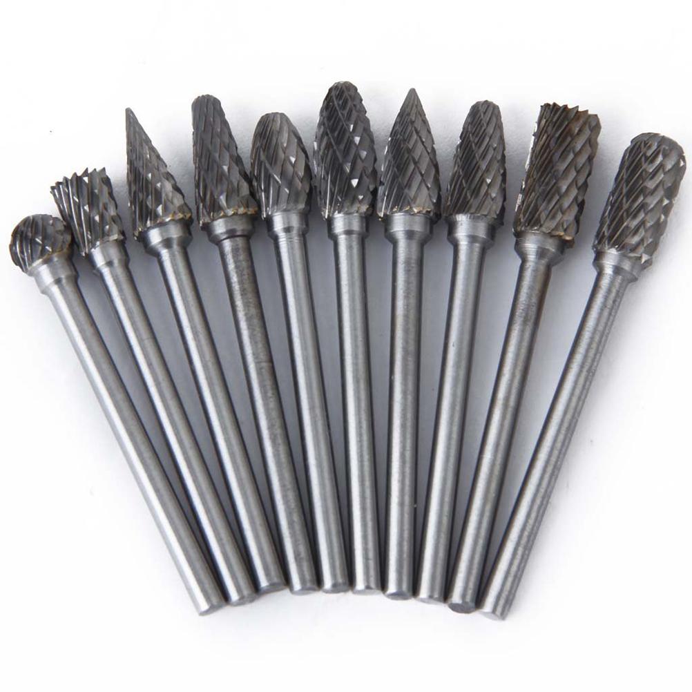 10pcs 6mm Tungsten Steel Carbide Rotary Bur Heads Bur Set
