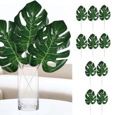 10Pcs Artificial Tropical Palm Leaves Imitation Plant Leaves Decoration for Hawaiian Luau Party Jungle Beach Theme