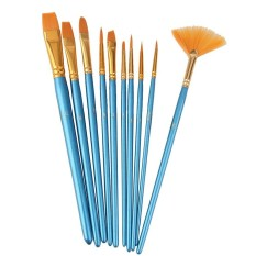 10pcs Blue Handle Nylon Hair Multifunction Paint Brushes - Intl By Lapurer.