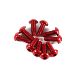 M3 6mm-10mm Hex Socket Cap Screw Bolt.10pcs Round Head Aluminum Alloy Metric