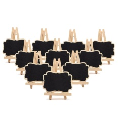 10pcs Mini Wood Easel Stand Blackboard Chalkboard Menu Boards For Wedding Party Daily Home Decoration - Intl By Duha.