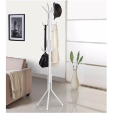 12 Hook Carbon Steel Coat Rack Hanging Pole Rack Clothes Hanger Coat Stand  Storage Display Hall