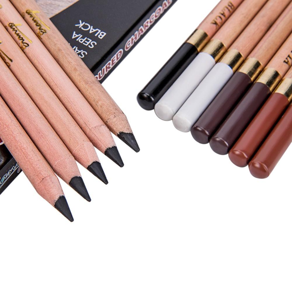 12 Pcs/Box Artist Soft Pastel Pencils Crayon Charcoal Pencils Artiste Wooden Non Toxic Pencil