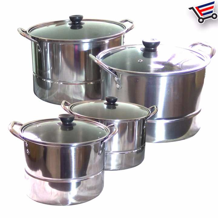 12 Piece Set High Quality Stainless Steel Cooking Stock Pot