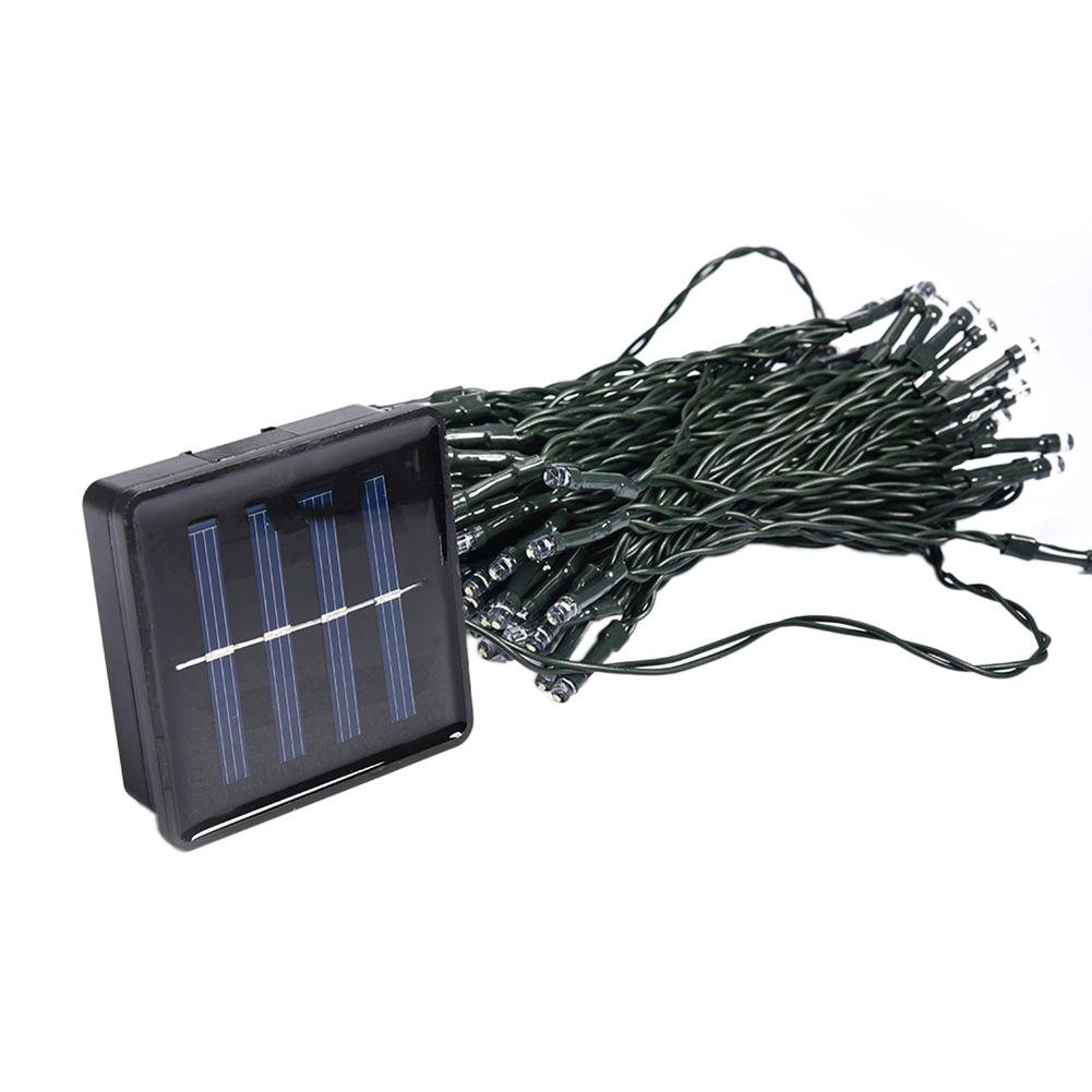 12M Solar 100 LED String Fairy Light Party Outdoor Garden Christmas White - thumbnail