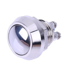 12mm Metal Boat Horn Momentary Stainless Steel Push Button Starter Switch (Silver) - intl Philippines