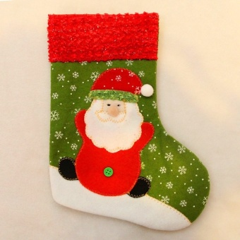 13*26cm Christmas Party Socks Stocking Candy Gift Bags (Christmas Santa) by LuckyG - intl