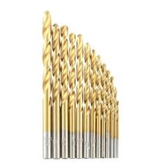 13pcs/set HSS Plating Titanium Twist Drill Bit Set Metric System 1.5-6.5mm