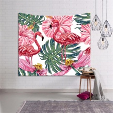 150*130cm Large Home Decorative Vintage Flamingo Tapestry Wall Hanging Tapestry Tablecloth Summer Beach Towel Beach Mat Blanket - Intl By Ilikethat.