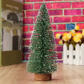15cm Mini Christmas Tree Festival Home Office Party Ornaments Xmas Decoration Gift Green Green - intl