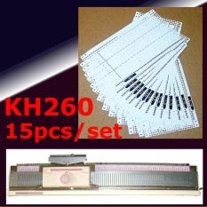 15pcs/set Pre Punched Card Kit For Brother Kh260 Knitting Needlework Machine - Intl By Channy.