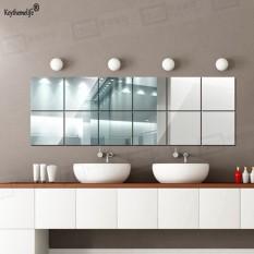 16pcs 15*15CM Square Acrylic Mirror Wall Stickers Art Wall Decor Wall  Stickers Home Decor