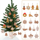17Pcs Animal Snowflake Biscuits CHRISTMAS Hand Made Polymer Clay - thumbnail 3