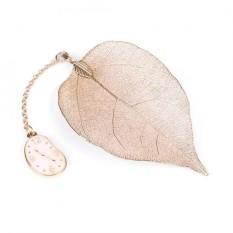 1pc Gold Metal Leaf Bookmark With Alice/rabbit/clock Pendant For Book Paper Reading - Intl By Sweetbaby123.