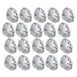 2.2 cmCrystal Upholstery Buttons Set of 20 Silver White