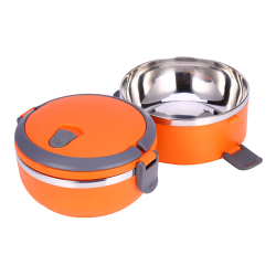 2 Layer Stainless Steel Portable Thermal Insulated Lunch Box Food Container(Orange) (Intl)