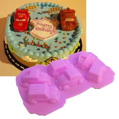 2 Pcs Car Silicone Molds Fondant Cake Decorating Tools Jelly Soap Chocolate Moulds Cake Baking Pan