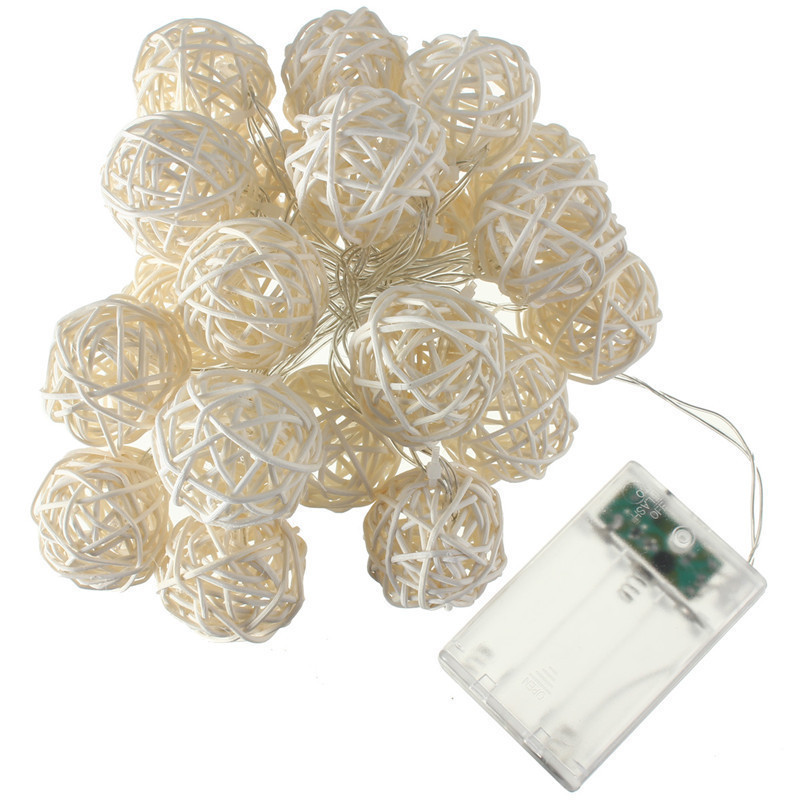 20 LED Rattan Ball String Fairy Lights For Christmas Xmas Wedding Party Decor Red product preview, discount at cheapest price