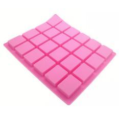 24 cavity rectangular silicone mold handmade soap/ cake chocolate cube