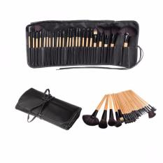 24 Pcs Makeup Brushes With Bag Case (Black) Philippines