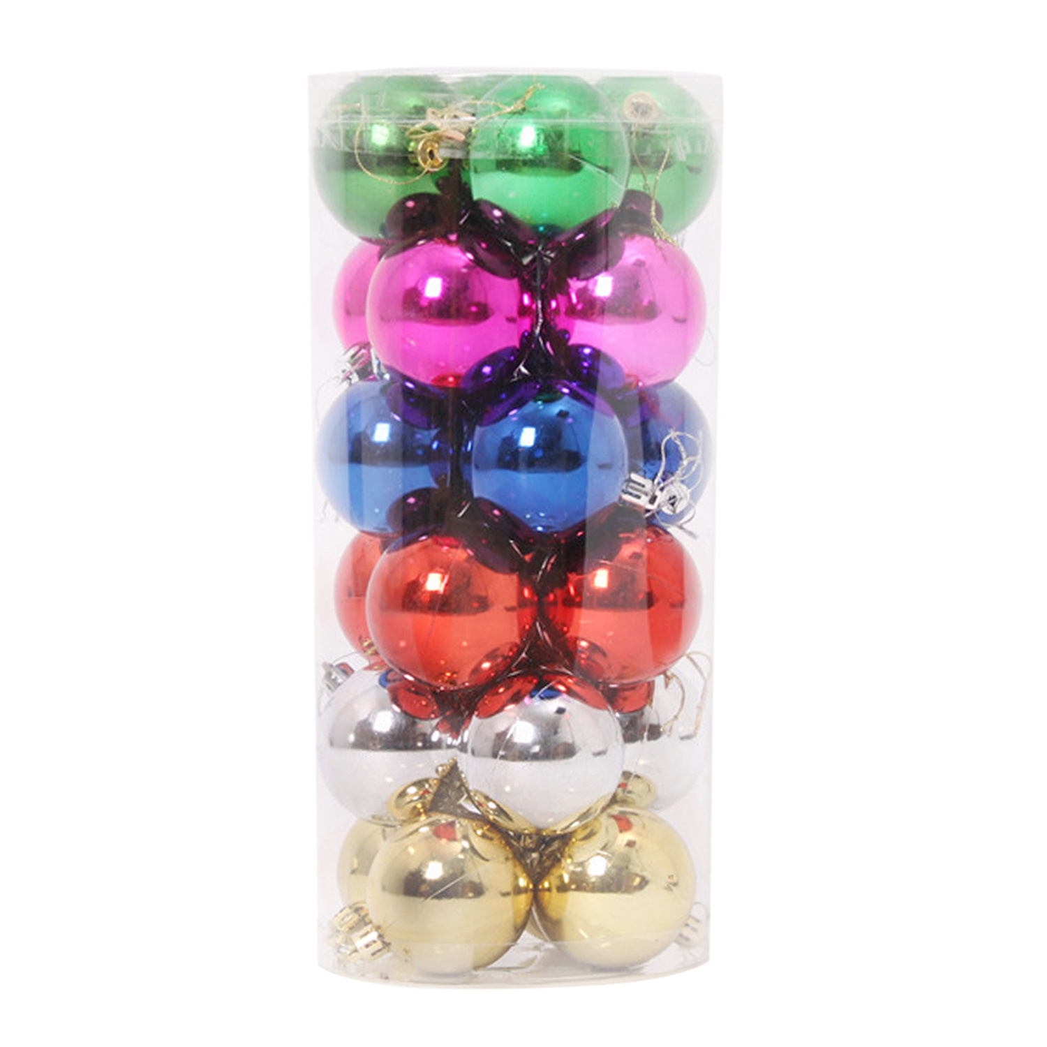 24pcs Mixed Color Christmas Ball Tree Hanging Ornament Decoration product preview, discount at cheapest price