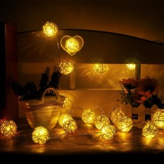 Outdoor lighting for sale outdoor lights prices brands review 2pcs rattan ball string lights home garden fairy lamp wedding party xmas decor intl aloadofball Image collections