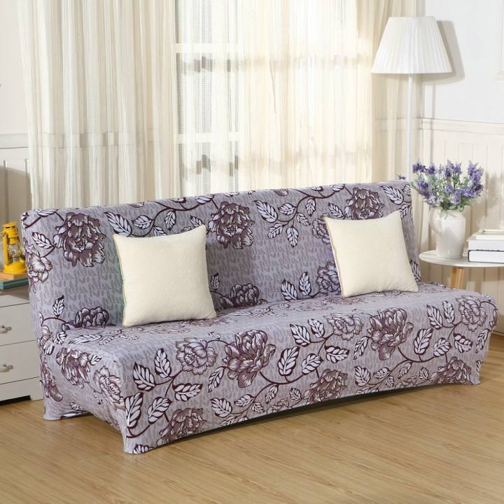 3 Seats Sofa Cover Slipcover Armless Settee Couch Protector Elastic Bed 1