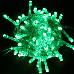 33 Ft 100 LED Christmas String Lights Green Light Xmas Tree Flashing Light