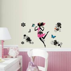 WALL ART 3D Dancing Flower Girl Removable Wall Sticker Art Decor (XE 004)