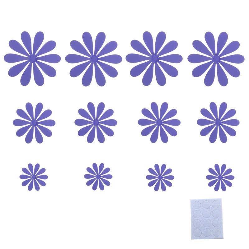 3D DIY Wall Stickers Flower Home Decor Room Decorations (Purple) product preview, discount at cheapest price