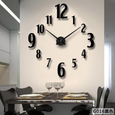 d36a7556a 3D Large Wall Clock Home Decor Quartz DIY Wall Watch Clocks Living Room  Metal Acrylic Mirror