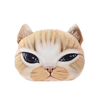 3D Meow Big Cat Decoration Throw Pillow for Christmas Thanksgiving Gift Big and Small Eyes Cat Style