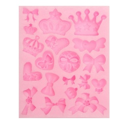 3D Silicone Crown Christmas Fondant Cake Mold Decorating Chocolate Baking Tool - intl