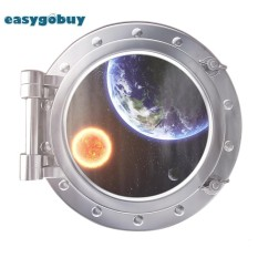 3d astronaut wall decor wall sticker 3d space capsule removable pvc waterproof decal wall window stickers home decor intl for sale decals prices brands review in
