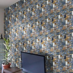 3D Wall Paper Brick Stone Rustic Effect Self-adhesive Wall Sticker Home Decor S -