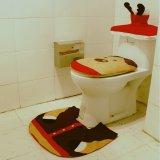 3pcs Elk Deer Reindeer Toilet Seat Cover Rug Bathroom Set Christmas Decorations - thumbnail 5