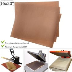 3pk Reusable Teflon Transfer Sheet For 16x20 Heat Press Craft Applique Ironing - Intl By Freebang.