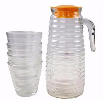 5 in 1 Pitcher and Drinking Glass Set
