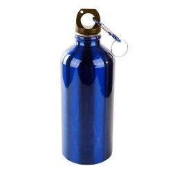 500ml Stainless Steel Water Bottle with Key Chain (Blue)
