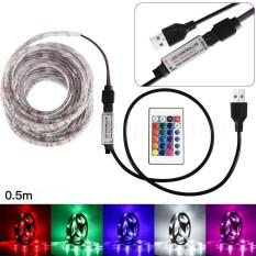50CM USB LED Strip Light TV Back Lamp 5050RGB Colour Changing+Remote Control - intl