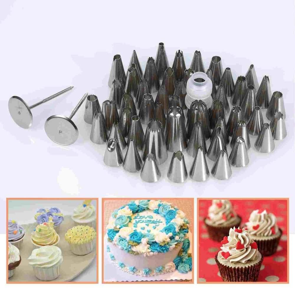 52 x Icing Piping Nozzles Pastry Tips New intl Box Cupcake Decorating Sugacraft Set -