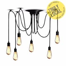 Ceiling lights for sale chandelier lights prices brands review 6 heads vintage industrial ceiling lamp edison light chandelier pendant lighting intl aloadofball Choice Image