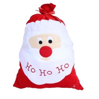 68*34cm Christmas Party Drawstring Candy Gift Sack Craft Bag (Santa Claus) by LuckyG - intl
