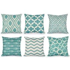 6PC/Set Home Decorative Pillowcase Cotton Linen Sofa Cushion Throw Pillow Cover - intl