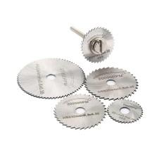 6pcs/set Metal HSS Circular Saw Blade High Speed Steel Woodworking Cutting Discs For Dremel