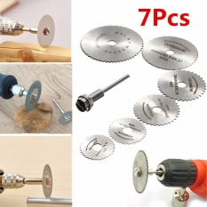 7pcs Hss Circular Wood Cutting Saw Blade Discs W/mandrel For Rotary Tool - Intl By Audew.