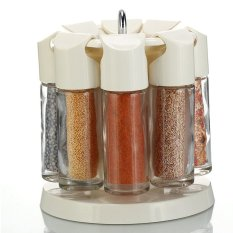 8 Pieces/set Spice Jar Castor Glass Condiment Bottle With Stand By Isure Store.