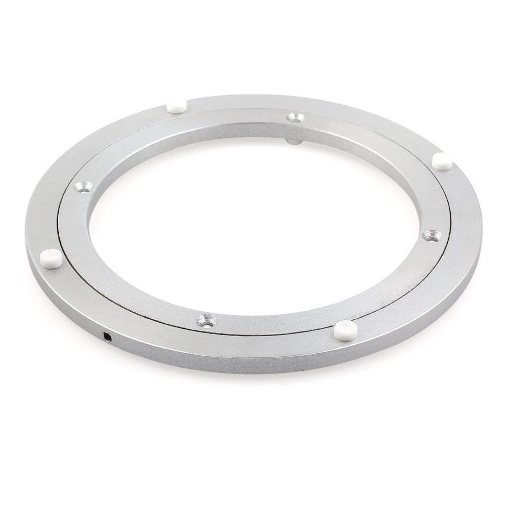 Furniture Accessories Loyal Aluminium Rotating Turntable Bearing Swivel Plate 16 Inch Silver Be Novel In Design