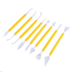 8pcs/set Embossing Double Heads Plastic Pottery Clay Sculpture Tools Carve - intl