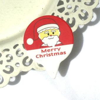 95-100 x Cupcake Decoration Paper Cake Insert Card Christmas Santa Claus Hat